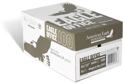 """8½x11"""" 100% Post-Recycled American Eagle"""