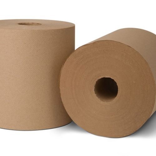 EcoSoft Natural Brown Non-perforated 800' Roll Towels