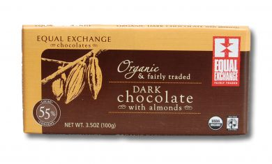 Dark Organic Chocolate with Almonds