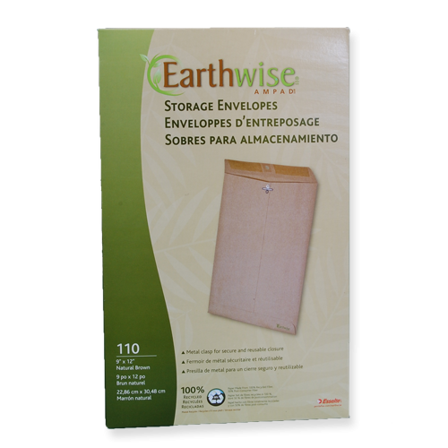 "9X12"" EARTHWISE Envirotec Clasp Envelopes"