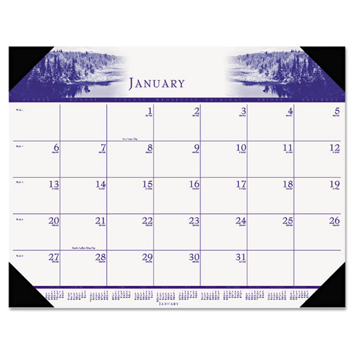 HOD140HD Illustrated Desk Pad Calendar