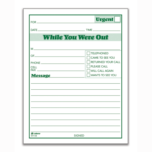 Phone Message Pads