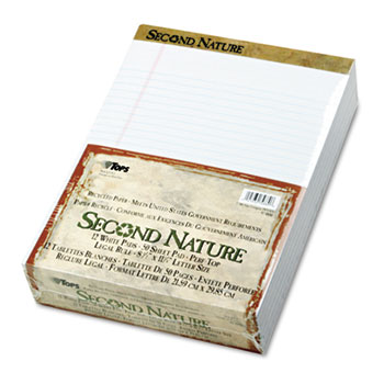"8.5x11"" Ruled Legal Pads - Natural White"