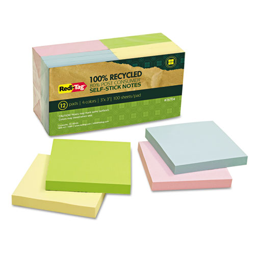 "RediTag Assorted 3x3"" self-stick notes"