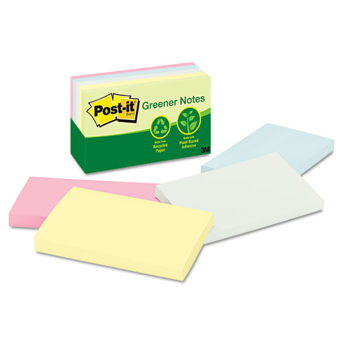 "Post-It 3x5"" Pastels Recycled Paper Notes"
