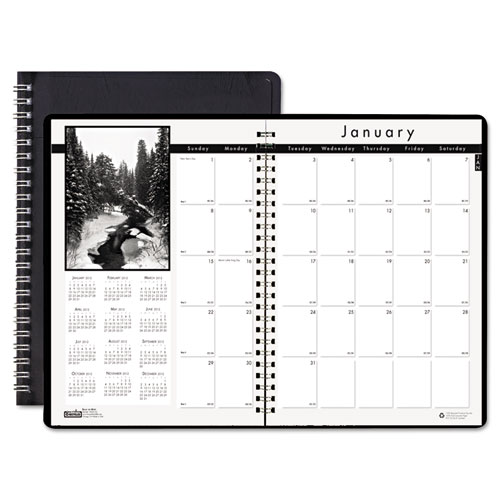 HOD2162-02 Black on White Monthly Planner