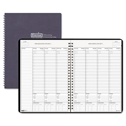 HOD2171-02 Black on White Weekly Planner