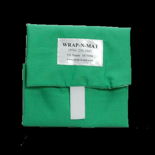 Wrap N Mat Green Print