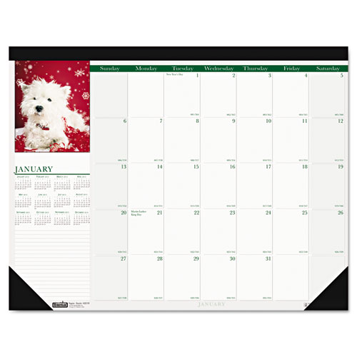 HOD1996 Compact Earthscapes Puppies Desk Pad