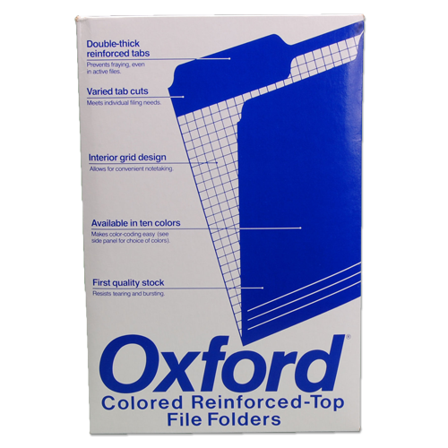 Oxford Legal Size File Folders - orange