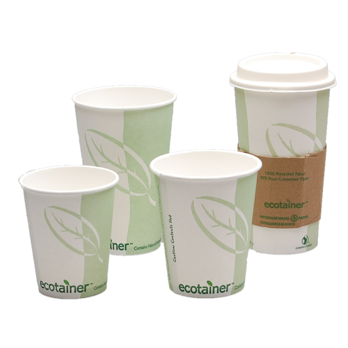 Compostable Paper Cups, Plates & Dinnerware