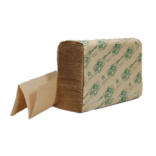 EcoSoft Natural Brown Multifold Towels