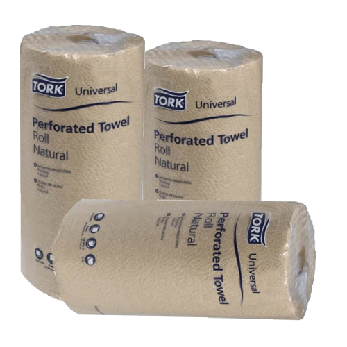 Natural Brown Perf Towels 100% Recycled/min 85% PCW