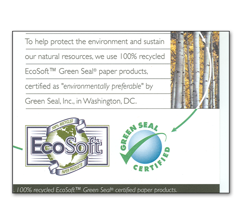 EcoSoft Natural White C-fold Towels