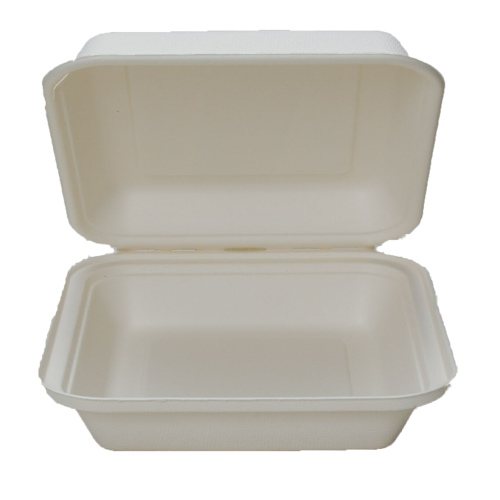 Compostable 9x9 to-go box (stamp out foam!)