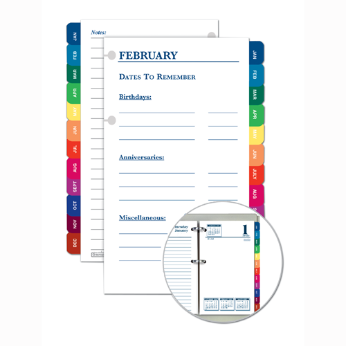 HOD4730 Monthly Tab Set (for use with 417, 4717)