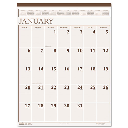 HOD380 Classic Wall Calendar