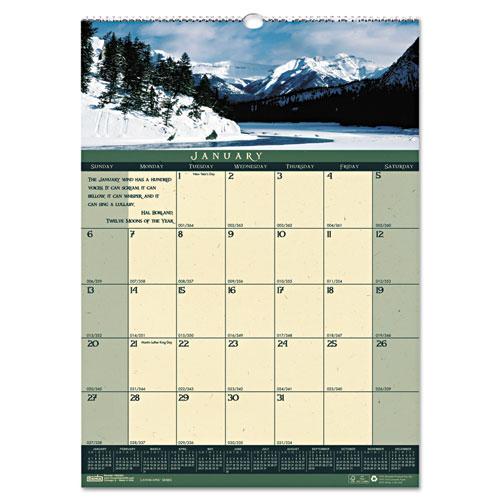 """HOD362 Landscapes 12x16.5"""" Wall Calendar"""