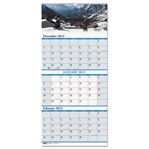 HOD3638 Earthscapes 3-Month Wall Calendar