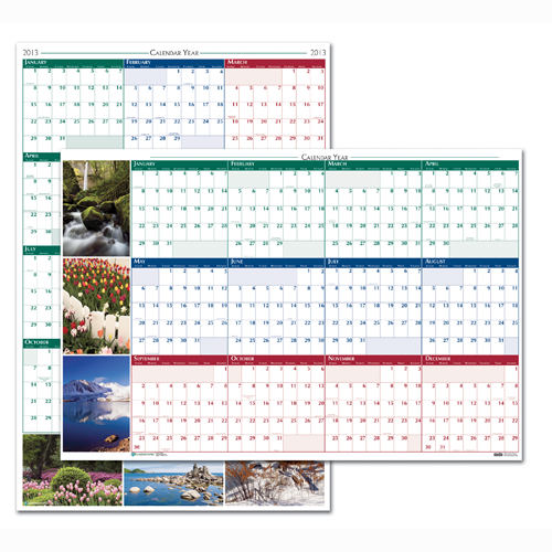 HOD393 Earthscapes Scenic Laminated Wall Planner