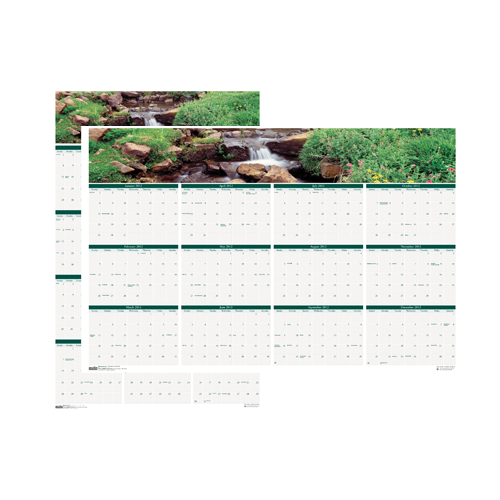 HOD397 Earthscapes Waterfalls Laminated Planner