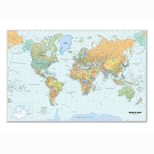 HOD710 Laminated World Map