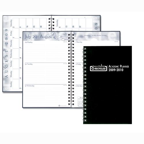 HOD274RTG-02 Black Leatherette Cover Academic Planner