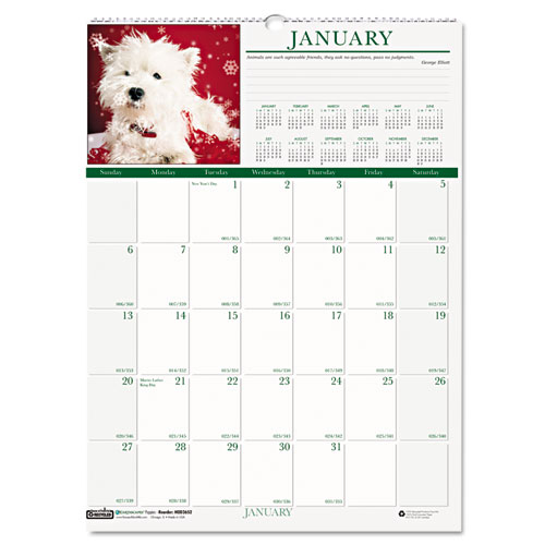 HOD3652 Wall Calendars - Puppies