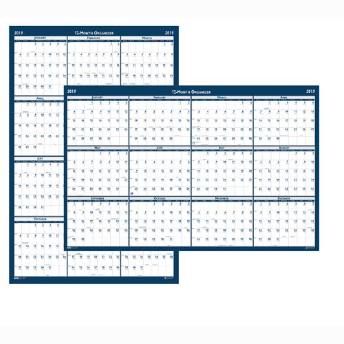 "HOD3965 Academic Laminated Wall Calendar 18x24"""