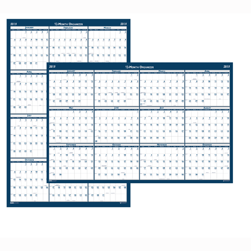 HOD3965 Academic Laminated Wall Calendar 18x24""