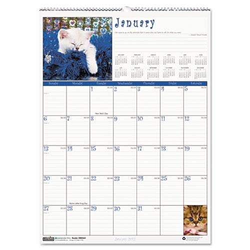 HOD3661 Kittens Wall Calendar