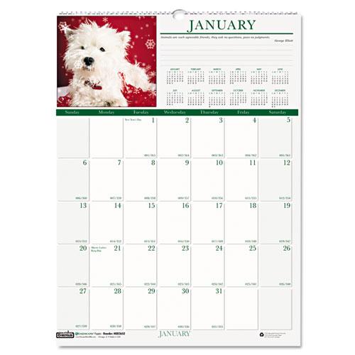 HOD3651 Puppies Wall Calendar