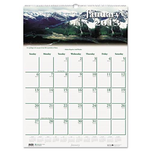"HOD378 Scenic Wall Calendar 12x16"""