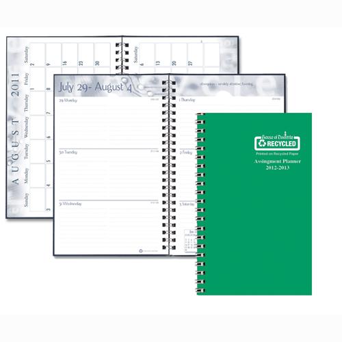HOD274RTG-06 Green Leatherette Cover Academic Planner