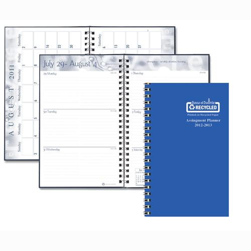 HOD274RTG-26 Blue Vibrant Vinyl Cover Academic Planner