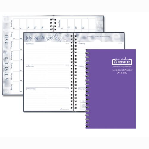 HOD274RTG-29 Purple Vibrant Vinyl Cover Academic Planner