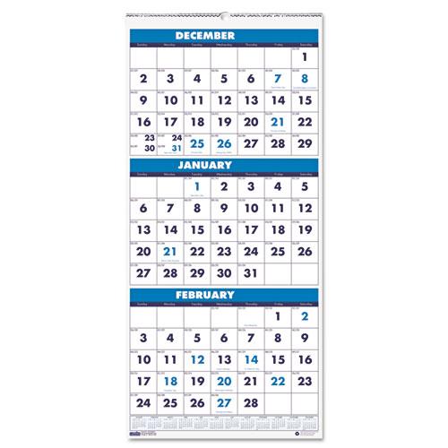 HOD3640 Three-Month Calendar