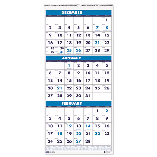 HOD3640 Three-Month Calendar