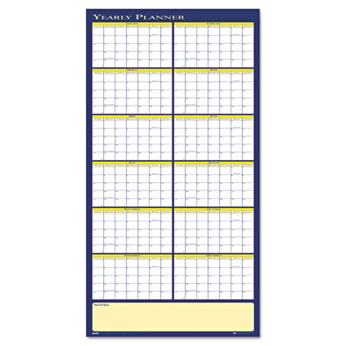 HOD3974 Yearly Laminated Planner