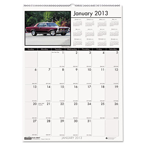HOD3771 Earthscapes Classic Cars Wall calendar - small