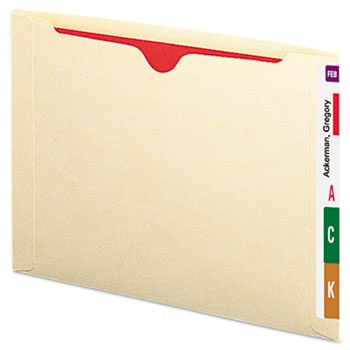 Recycled End Tab Flat File Jacket, Letter, Manila, 50/Box