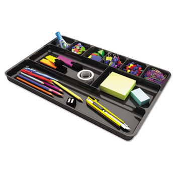 Recycled Drawer Organizer, Nine Compartments, Plastic, 14 x 9 x 1 1/8