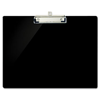 "Recycled Plastic Landscape Clipboard, 1/2"" Capacity, Black"