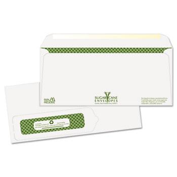 Bagasse Sugar Cane Business Envelopes, Window, #10, 1000/Carton