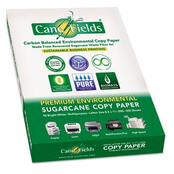 Sugarcane Copy Paper, 93 Bright, 8 1/2 x 11, 20#, White, 2500 Sheets