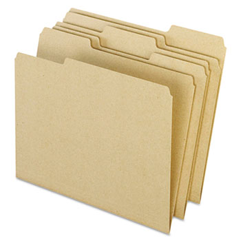 Natural File Folders 100% Post-Recycled