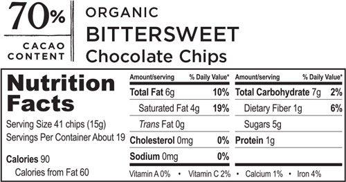 Organic Fair Trade Bittersweet Chocolate Chips