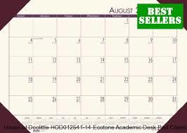 HOD 125-41 Ecotones Academic Desk Pad Calendar