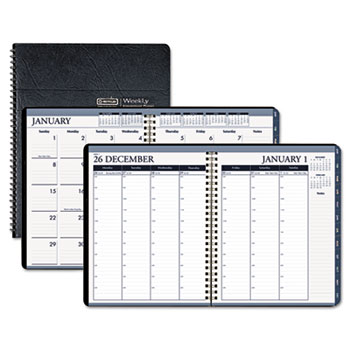 HOD 283-02 Wirebound Weekly/Monthly Planner, 8-1/2 x  11