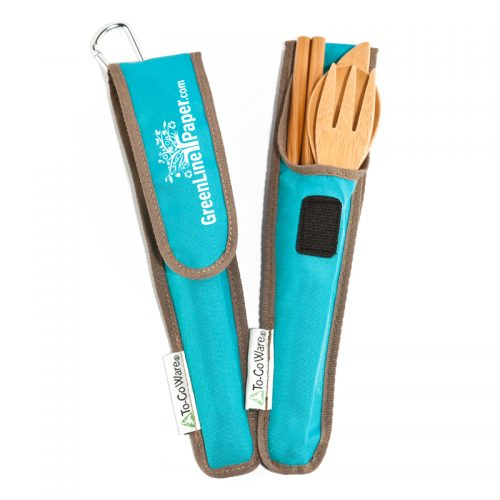 Bamboo Utensil Set w/carry case (reusable)